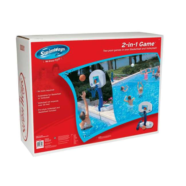6 x 00381-U-A SwimWays 2-in-1 Poolside Volleyball & Basketball Water Set (Open Box) (6 Pack) 4