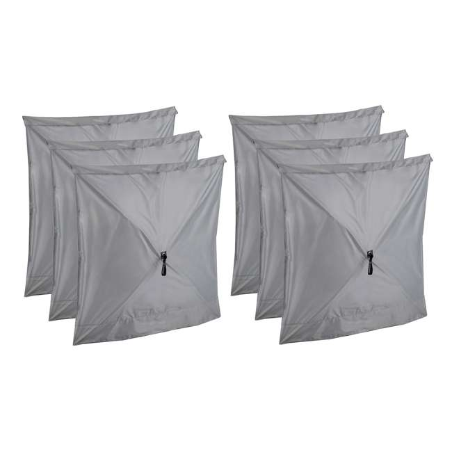 CLAM-WP-114247 Clam Quick-Set Gray Wind Panels, Accessory Only (6 Pack)