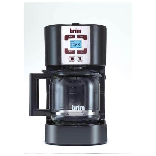 CM-105_EGB-RB BRIM Size Wise Programmable Coffee Maker Station, Black (Certified Refurbished)