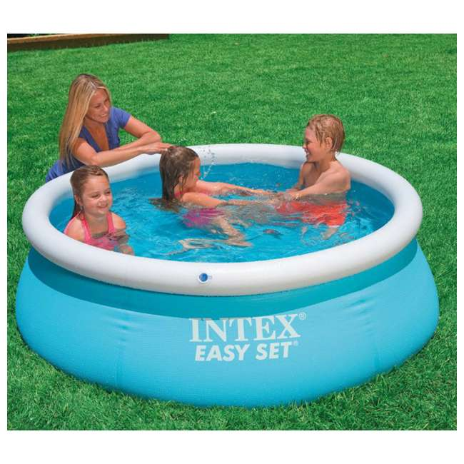 28101EH + 28601EG Intex 6' x 20-Inch Easy Set Inflatable Swimming Pool with Filter Pump 4