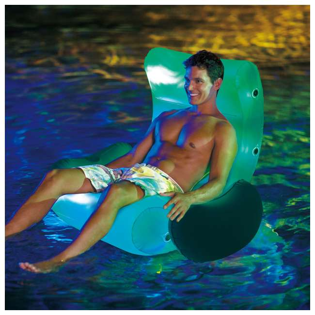 P4N024521167 + 4 x K71071000167 Summer Waves Round Pool w/Inflatable Rocking Chair Float w/Aqua Glow LED(4 Pack) 8