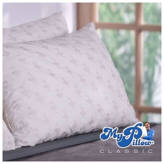 MP-KG-MF MyPillow Classic Series Foam King Sized Bed Deep Sleep Pillow, White Medium Fill 2