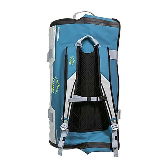 77-57798 Yampa 105 Liter Dry Duffle Waterproof Backpack Bag, Hazy Harbor Gray and Blue 2