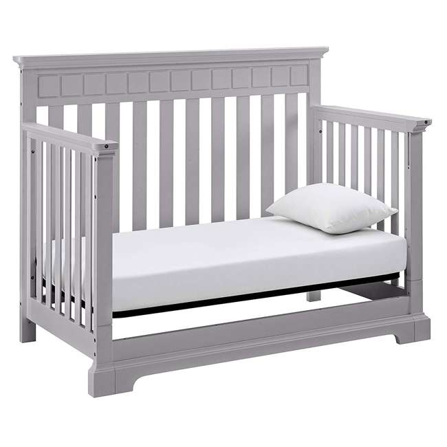 04565-50F + EM642-PHN1 Thomasville Kids Willow Crib, Pebble Gray & Sealy Posturepedic Mattress  4