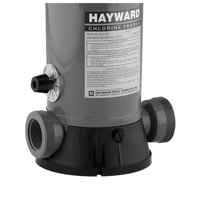 6 x CL2002S Hayward Pool In-Line Chemical Trichlor Chlorine Feeder (6 Pack) 3