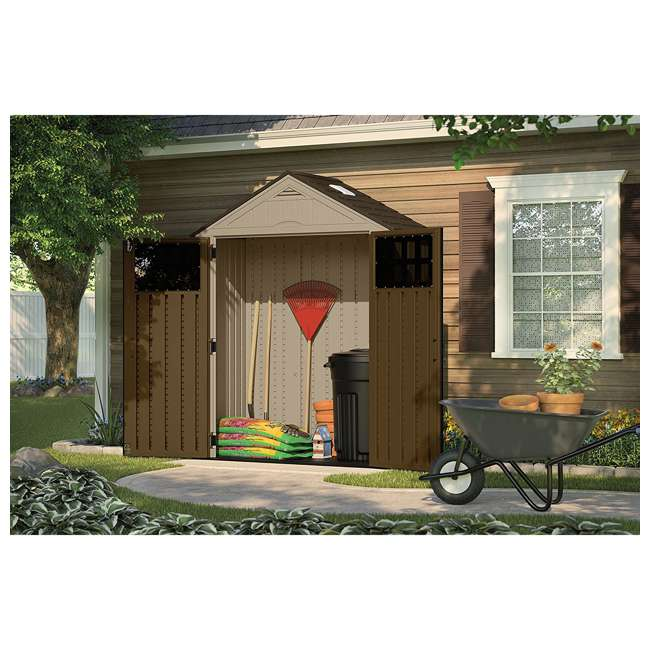 BMS6310D Suncast Everett 6 ft. 3 in. W x 2 ft. 9 in. D Outside Storage Equipment Shed 1