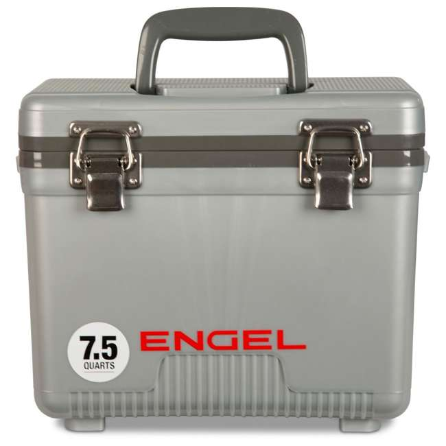 UC7S Engel 7.5-Quart EVA Gasket Seal Ice and DryBox Cooler with Carry Handles, Silver