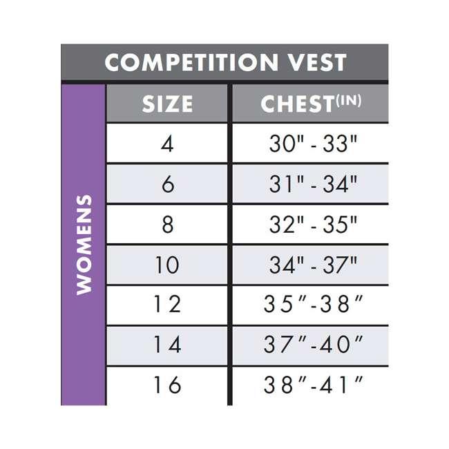 4531-ET7-6 Women's Slasher Waterskiing/Wakeboarding Vest, Size 6 3
