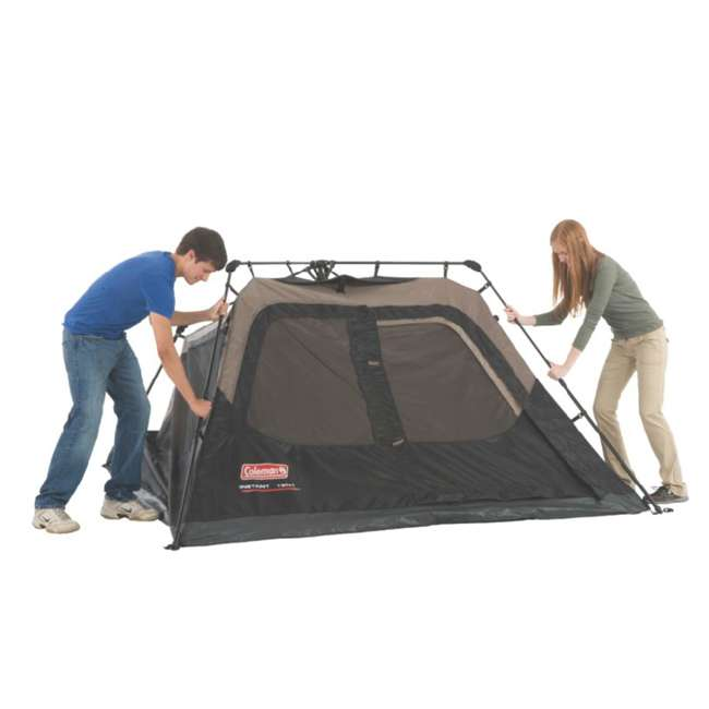 2000018016 + ENGCB2-P1PO Coleman 4-Person Family Instant Tent & 24 Can Backpack Cooler 5