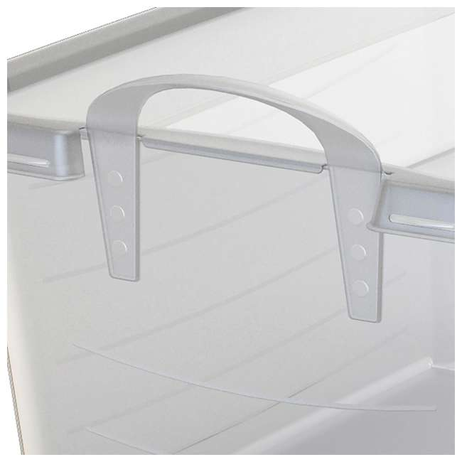 6 x CS-50-U-A Life Story Clear Stackable Closet & Storage Box 55 Quart Containers, (6 Pack) 4