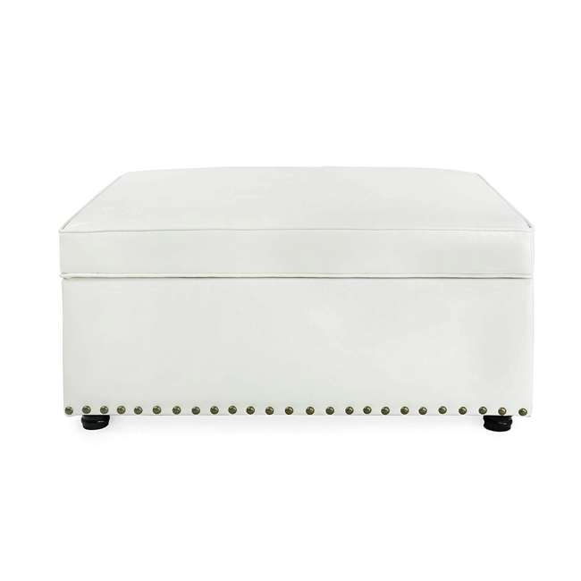PC111-U-A SpaceMaster iBed Ottoman with Fold Out Hideaway Guest Bed, White (Open Box) 3