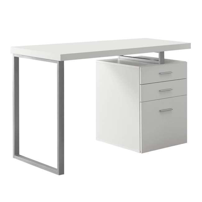"VM-7027-U-C Monarch Specialties 48"" Contemporary Reversible Set Up Computer Desk (For Parts) 2"