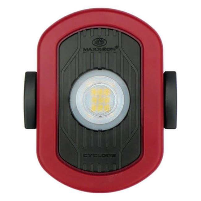 4 x MXN00810 Maxxeon MXN00810 WorkStar Cyclops USB Rechargeable LED Work Light, Red (4 Pack) 3