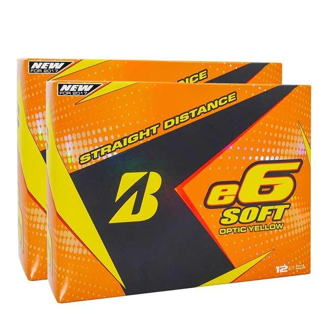 6SYX6D Bridgestone e6 Soft Yellow Golf Balls, 2 Dozen