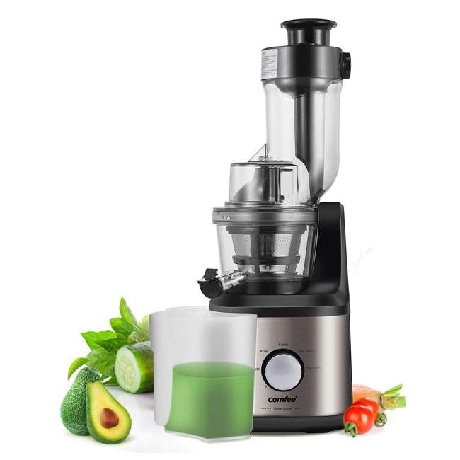 MJ-JS2007AW2 Comfee BPA Free Multi Function Stainless Steel Slow Juicer with Ice Cream Maker 1