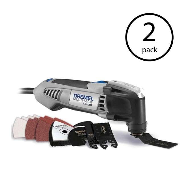 MM30-DR-RT-RB Dremel 2.5-Amp Multi-Max Tool Kit (Certified Refurbished) (2 Pack)