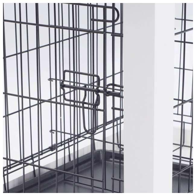 PTH0251720100 Zoovilla Decorative Dog Cat Cage Crate, White 5