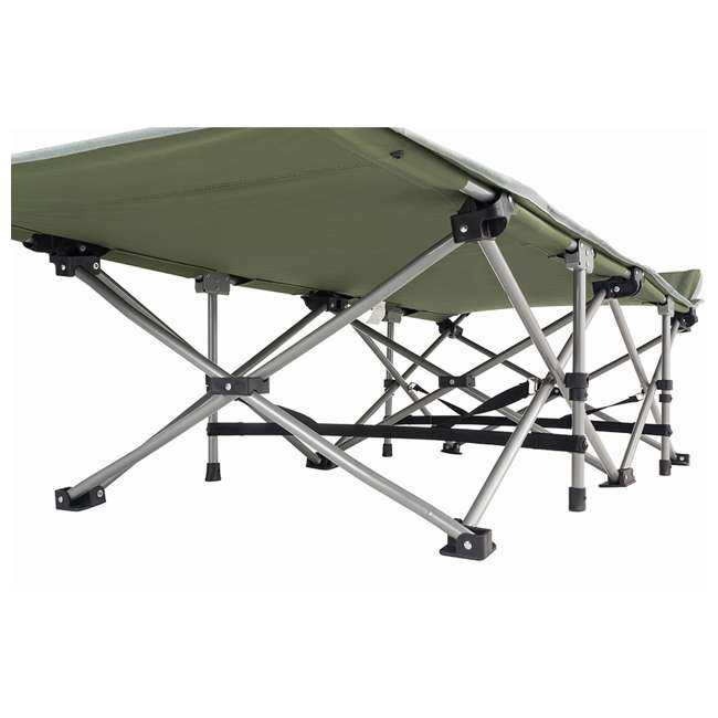 KC800360040000 KingCamp Folding Deluxe Lightweight Portable Camping Bed Cot w/ Carry Bag, Green 3