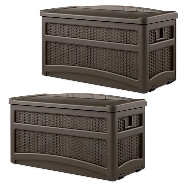 DBW7500 73 Gallon Deck Box With Seat (2 Pack)