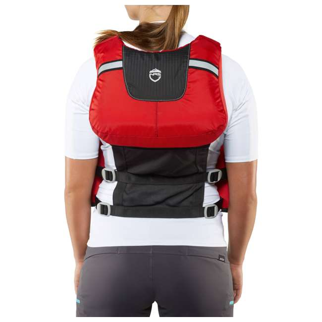 40071.01.101 NRS Chinook OS Type III Fishing Life Vest PFD with Pockets, X Small/Medium, Red 8