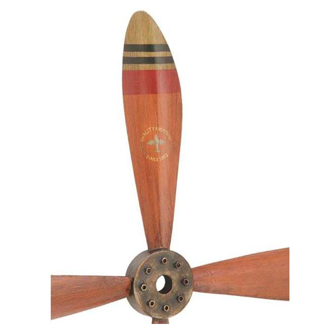 UE-93230 Deco 79 Wall Hanging Decor 34-Inch Metal Airplane Propeller 3