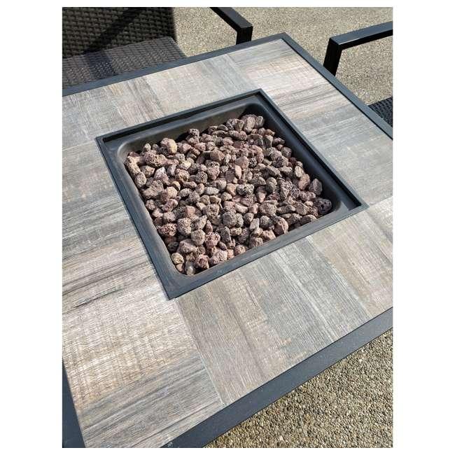 FIREPITSET Leisure Classics Harbor Springs 50000 BTU 5 Piece Outdoor Tile Top Fire Pit Set 1