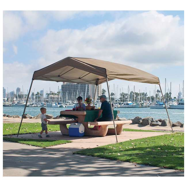 ZS1412PANTN + ZSHDSK4 + ZSHDWB4 Z-Shade 12 x 14 Foot Instant Pop Up Canopy Tent w/ Steel Stakes & Weight Bags 7