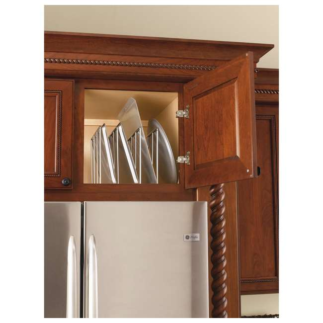 596-10CR-52 Rev-A-Shelf U-Shaped Tray Divider Organizer for Cabinets, Chrome (2 Pack) 3