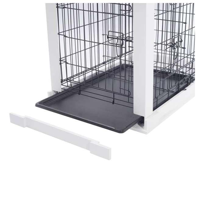 PTH0251720100 Zoovilla Decorative Dog Cat Cage Crate, White 7