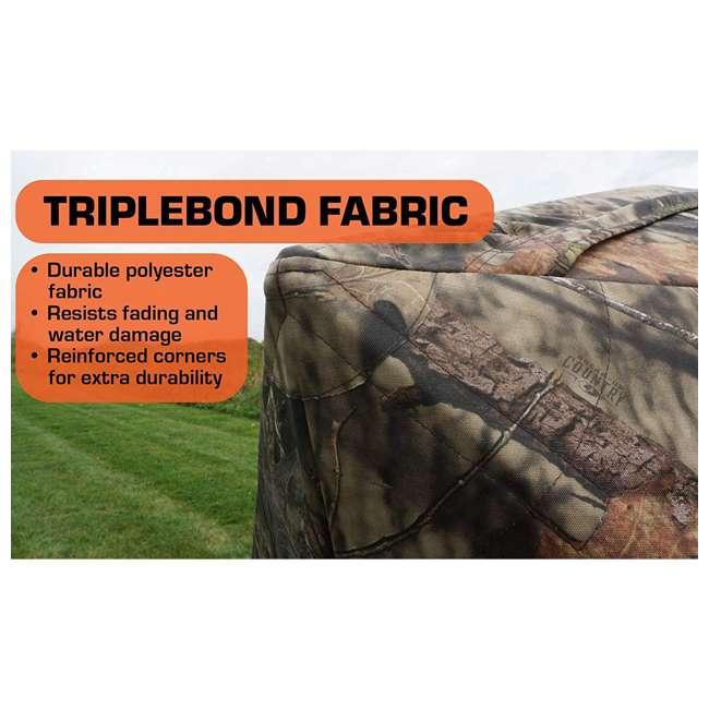 R500-RTE Rhino Blinds R500-RTE RealTree Edge 3 to 4 Person Hunting Ground Blind, RealTree 5