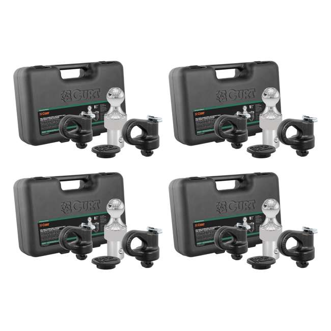 4 x CURT-60692 Curt 60692 Gooseneck Trailer Puck Ball & Chain Anchor Kit (4 Pack)