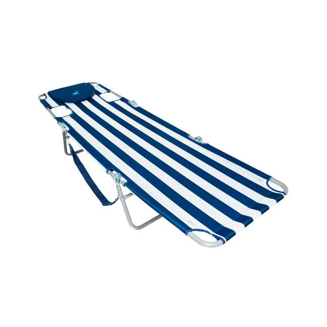 CHS-1002S Ostrich Chaise Lounge Folding Portable Sunbathing Beach Chair (2 Pack) 4