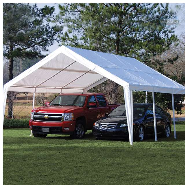EX1220 King Canopy 12 x 20, 20 x 20 Foot Universal Canopy White 8
