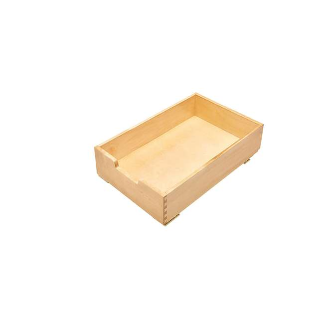 4WDB-15 Rev-A-Shelf 4WDB-15 14 Inch Wood Pull Out Organization Drawer, Maple (2 Pack) 1