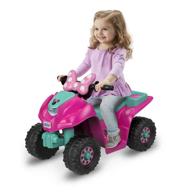 FLK44-U-A Fisher Price Power Wheels Toddler ATV Ride On Minnie Mouse Lil Quad (Open Box) 4