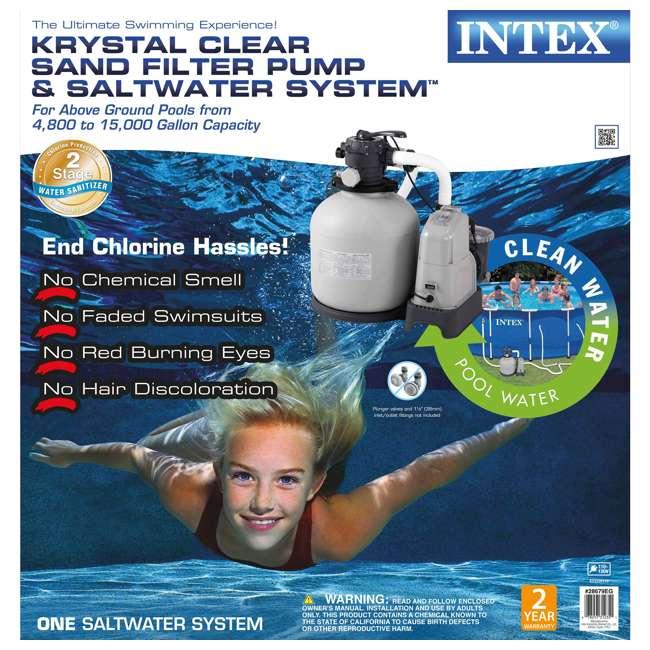 28679EG Intex Krystal Clear 2650 GPH Saltwater System & Sand Filter Pump  4