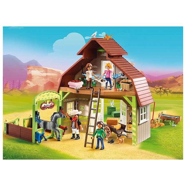70118 Playmobil 70118 Barn with DreamWorks Lucky, Pru & Abigail Spirit Riding Play Set 3