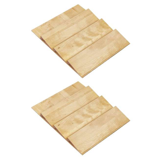 4SDI-24 Rev-A-Shelf 24 Inch Spice Drawer Storage Organizer Insert, Maple (2 Pack)