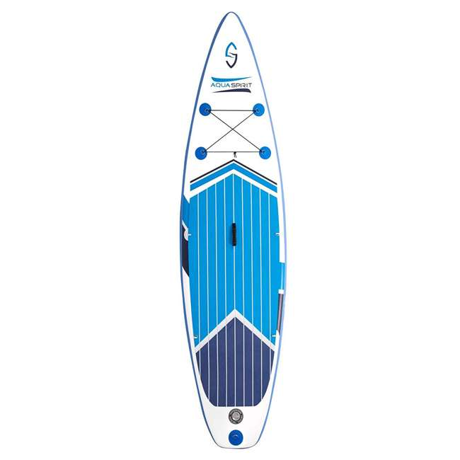 PADDLEBOARD-AQUASPIRIT-10x30x6 Aqua Spirit 10 Foot Inflatable SUP Stand Up Paddle Board Kit with Pump & Paddle 3