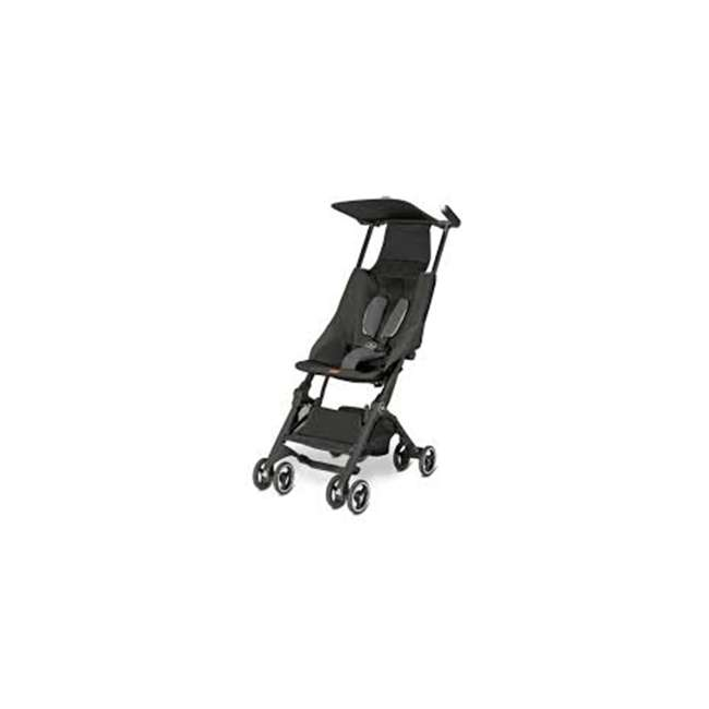 616230013 GB 616230013 Pockit Record Collapsible Folding Infant Stroller, Monument Black