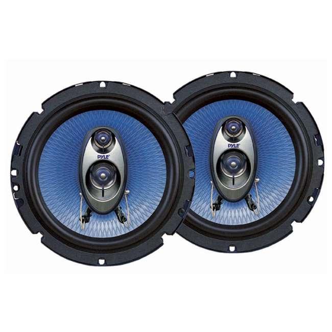 PL63BL + PL53BL Pyle PL63BL 6.5-Inch 360W 3-Way with PL53BL 5.25-Inch 200W Coaxial Speakers (Pair) 1