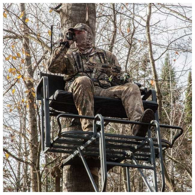 RE650 River's Edge RE650 Lockdown 21-Foot 2-Man Tree Ladder Stand (2 Pack) 5