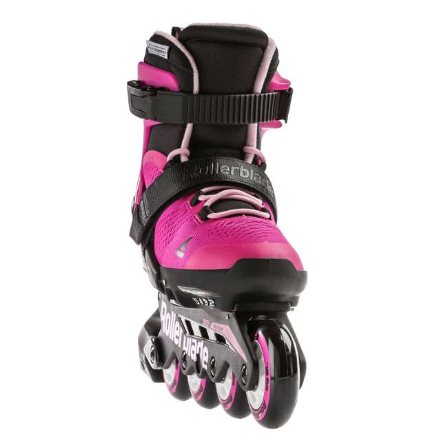 079573007G4-5 Rollerblade USA Microblade Girls Adjustable Inline Skate, Size 5 3