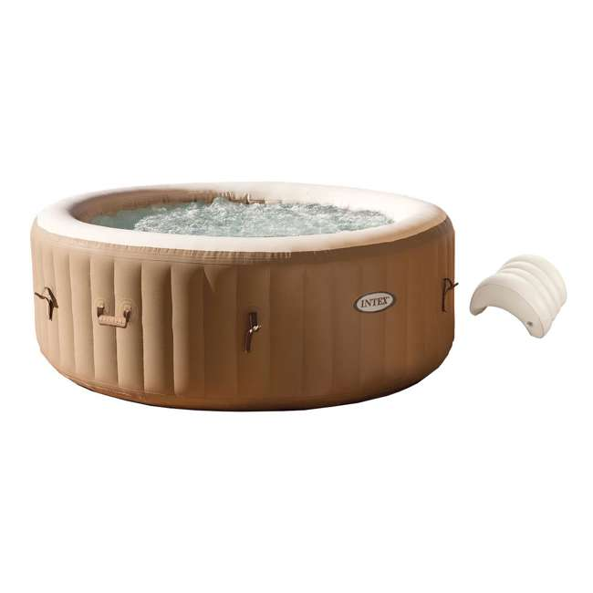 28403E + 28501E Intex Pure Spa Inflatable 4-Person Hot Tub with Headrest