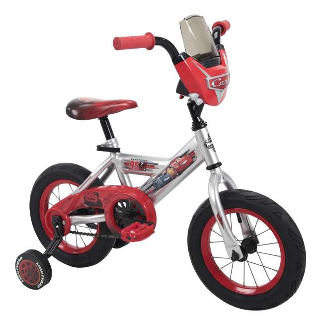 22449 Huffy 22449 12-Inch Single Speed Disney-Pixar Cars Bike for Ages 3 to 5, Red