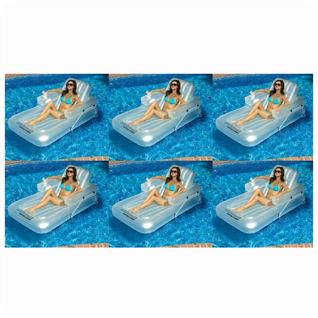 6 x 90521 Swimline Inflatable Kickback Lounger (6 Pack)