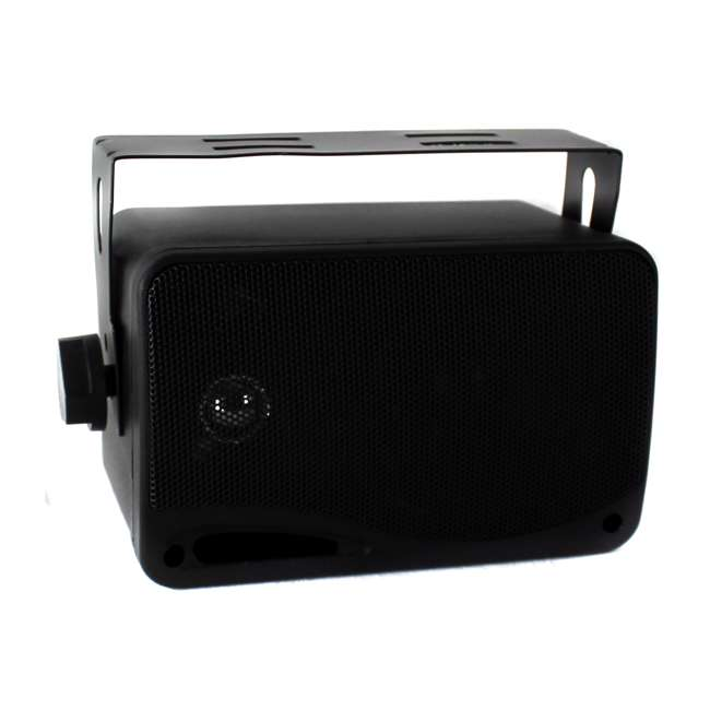 PLMR24B Pyle PLMR24B 3.5-Inch 200W 3-Way Weather Proof Mini Box Speaker System - Black (Pair) 2
