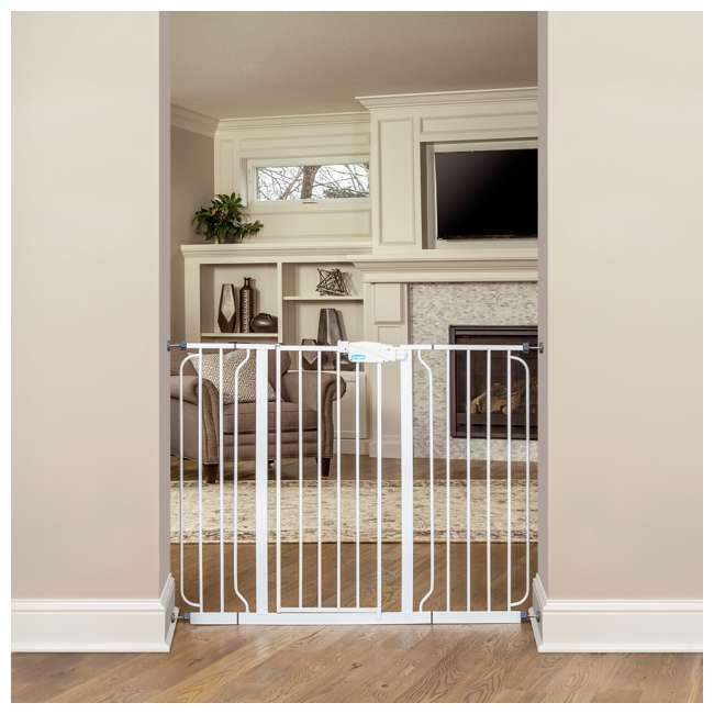 1154DS-U-A Regalo Metal Frame Adjustable WideSpan Extra Tall Baby Gate, White (Open Box) 1