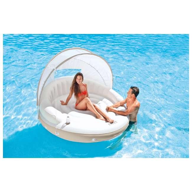 "6 x 58292EP-U-A Intex Canopy Island 78"" X 59"" Inflatable Water Lounge Raft | (Open Box)(6 Pack) 1"