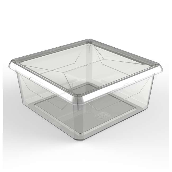 FBA32785 Ezy Storage Karton Medium 9.1 Qt/8.6 L Plastic Storage Container Bin Box w/ Lid 1